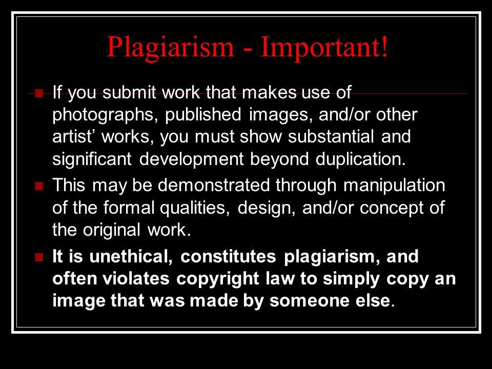 Plagiarism - Important!