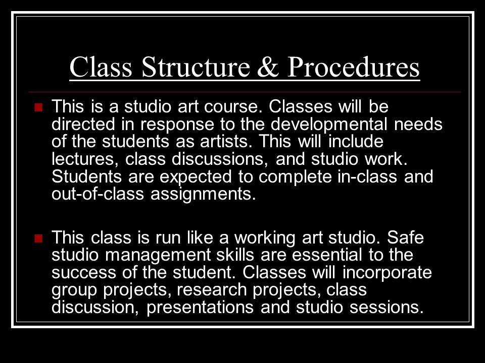 Class Structure & Procedures