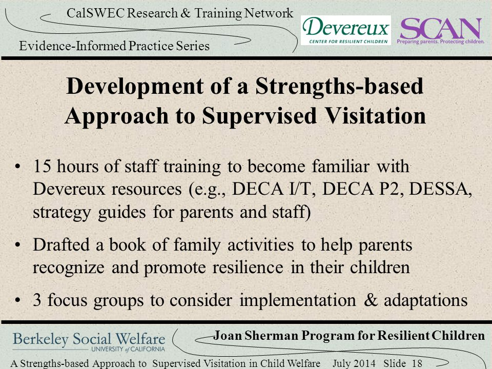 Development of a Strengths-based Approach to Supervised Visitation