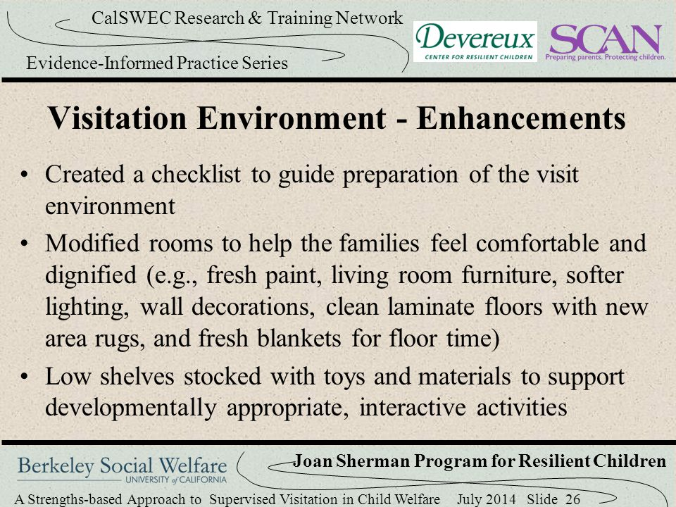 Visitation Environment - Enhancements
