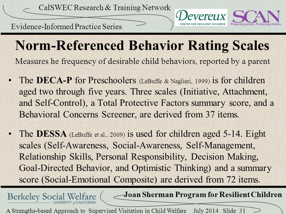Norm-Referenced Behavior Rating Scales