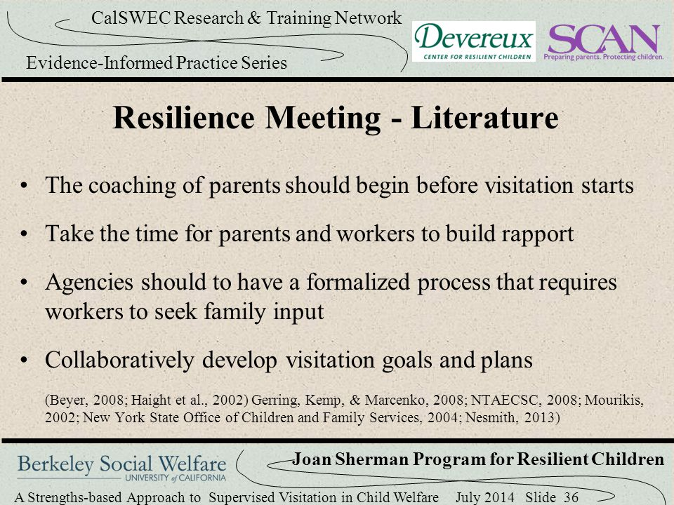 Resilience Meeting - Literature