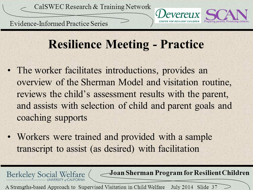 Resilience Meeting - Practice