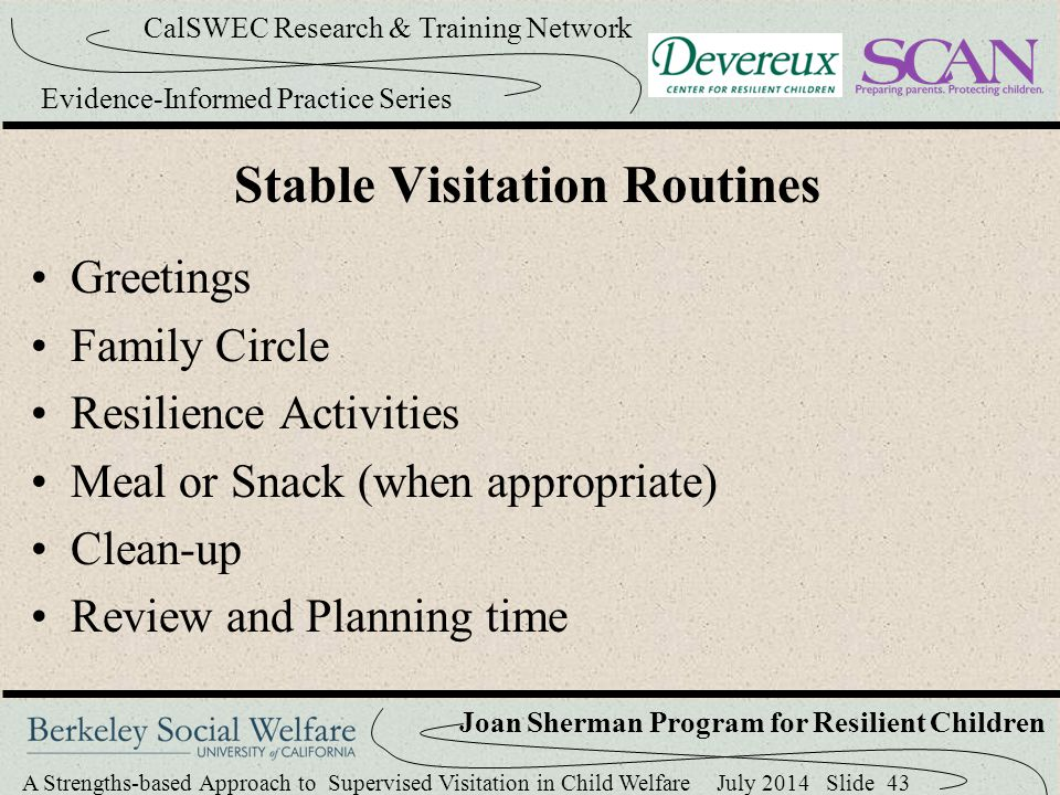 Stable Visitation Routines