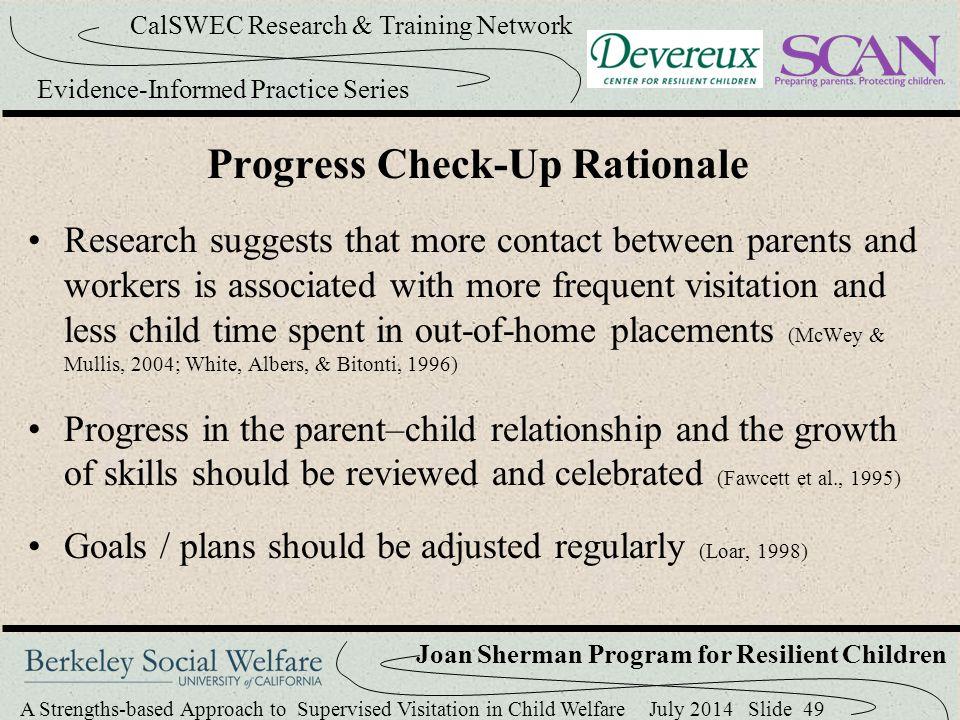 Progress Check-Up Rationale