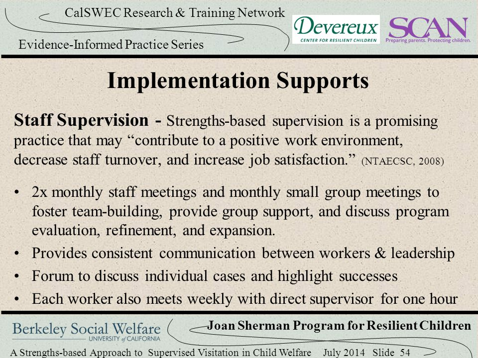 Implementation Supports