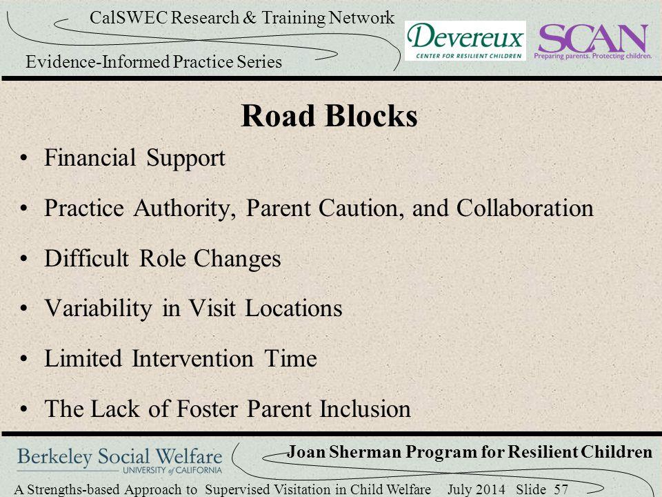 Road Blocks Financial Support