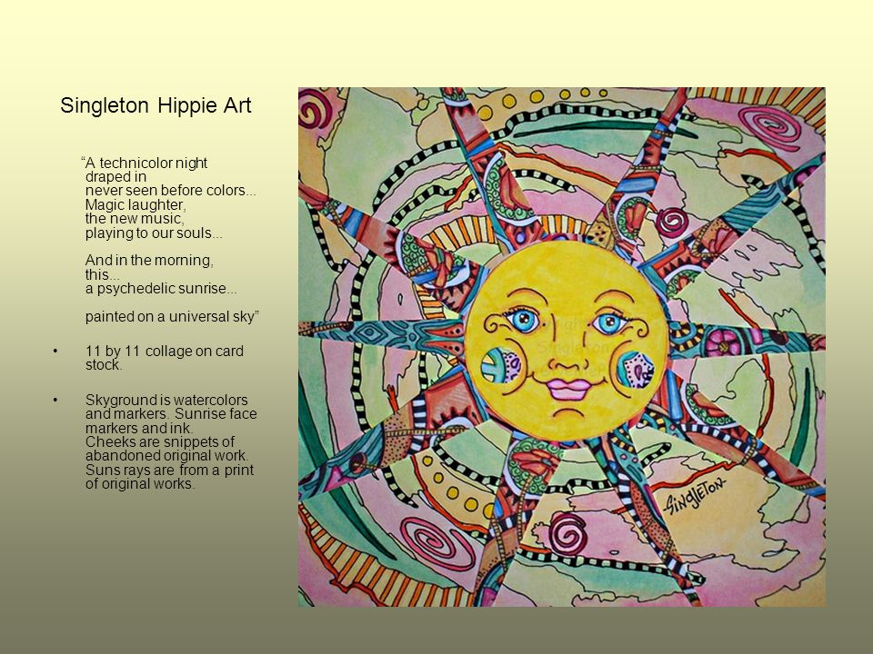Singleton Hippie Art