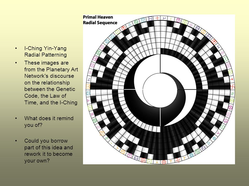 I-Ching Yin-Yang Radial Patterning