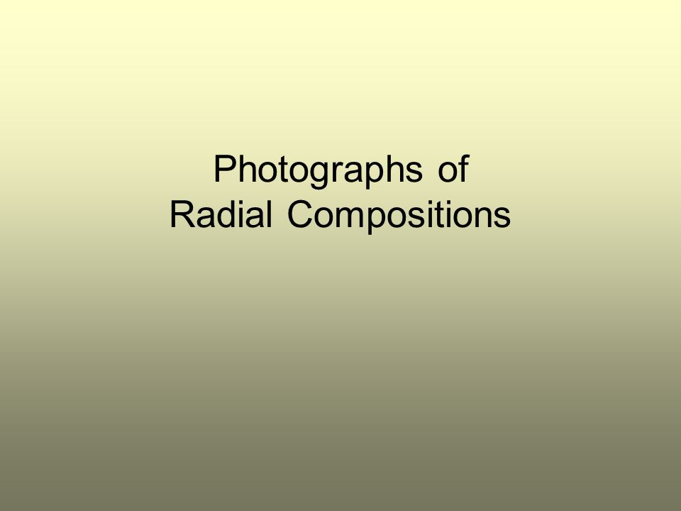 Photographs of Radial Compositions