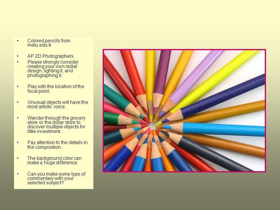 Colored pencils from metu.edu.tr