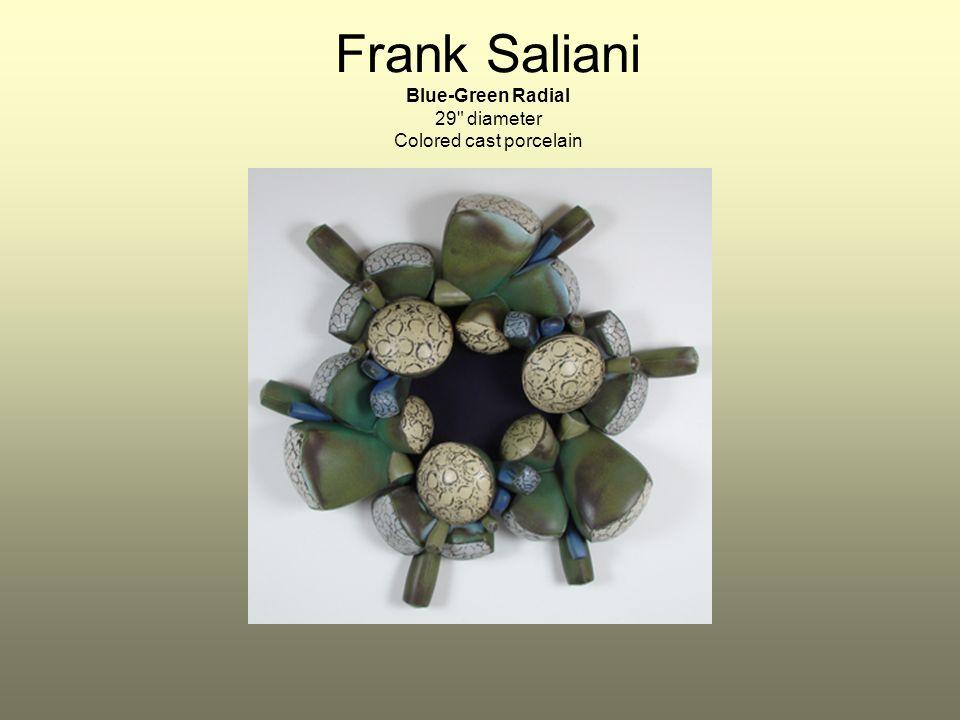 Frank Saliani Blue-Green Radial 29 diameter Colored cast porcelain