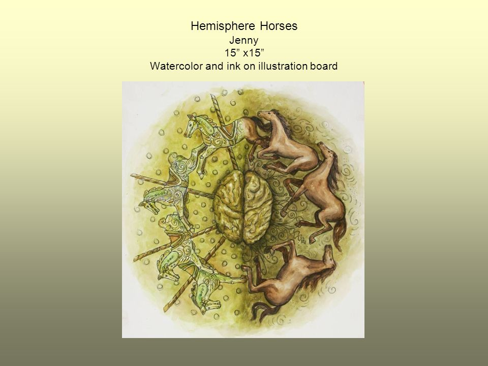 Hemisphere Horses Jenny 15 x15 Watercolor and ink on illustration board