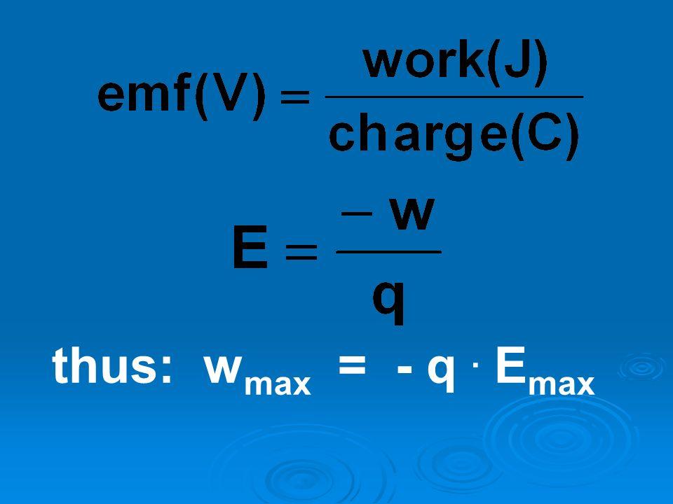 thus: wmax = - q . Emax
