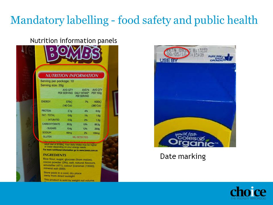 Mandatory labelling - food safety and public health
