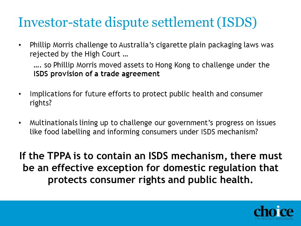 Investor-state dispute settlement (ISDS)