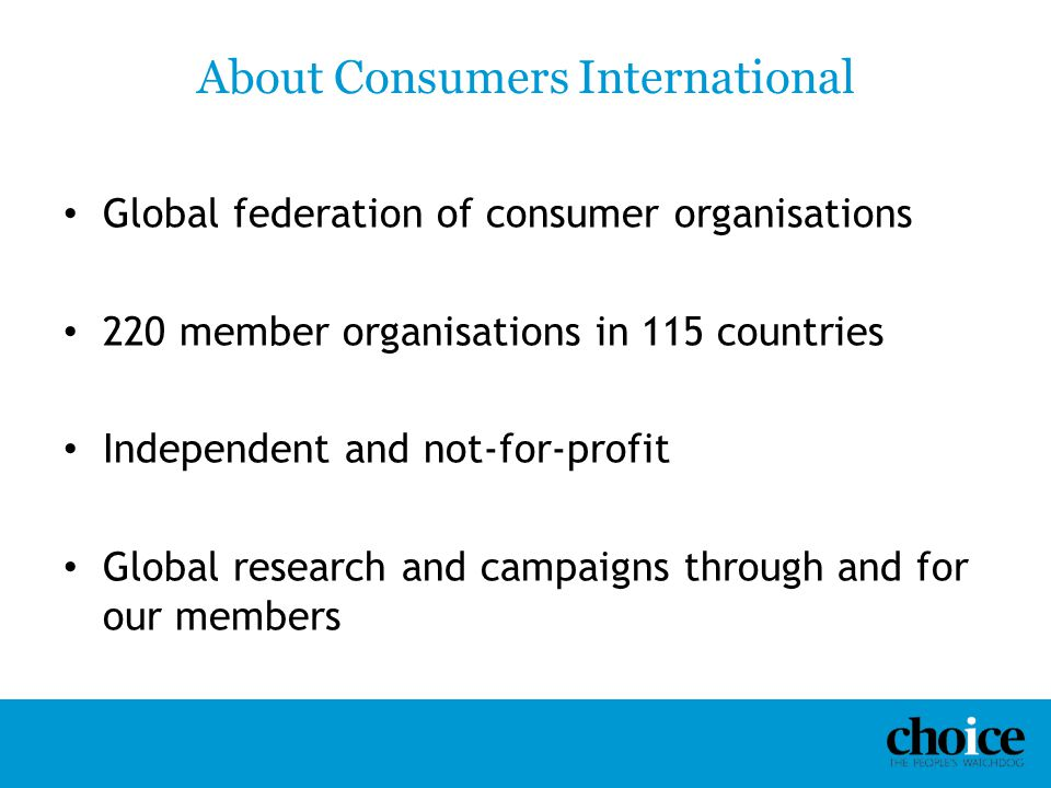 About Consumers International