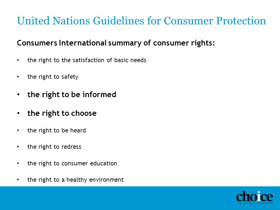 United Nations Guidelines for Consumer Protection
