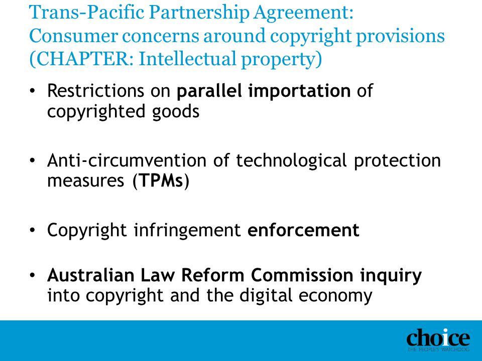 Tpp Impact On Domestic Regulation: Consumer Rights And Public