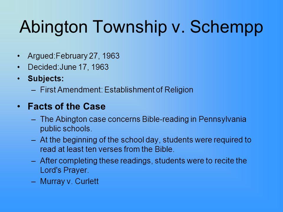 Abington Township v. Schempp
