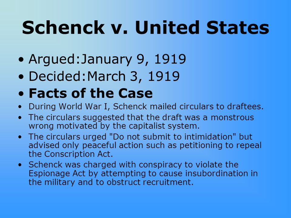 a review of the facts of the case olmstead versus united states 1928 Historic supreme court cases olmstead v united states the supreme court of the united states was called in to review this statute which made it unlawful.