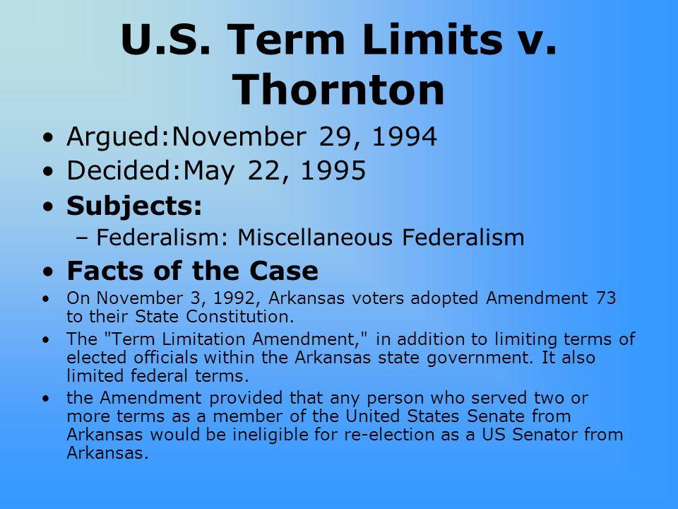 U.S. Term Limits v. Thornton