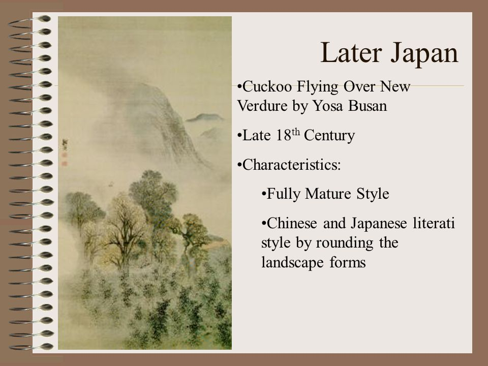 Later Japan Cuckoo Flying Over New Verdure by Yosa Busan