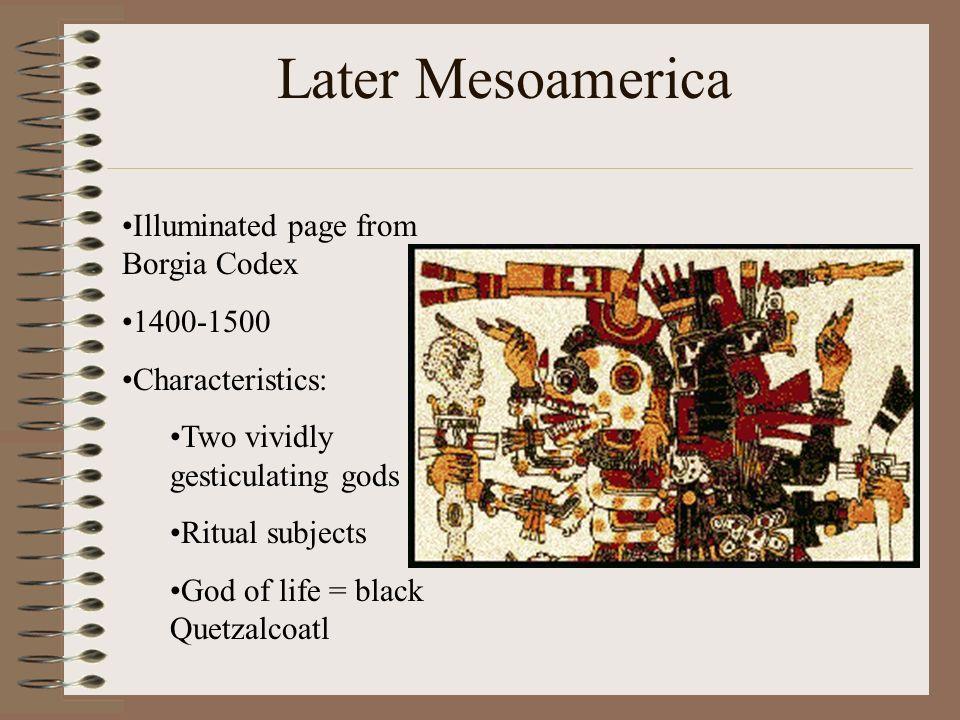 Later Mesoamerica Illuminated page from Borgia Codex 1400-1500