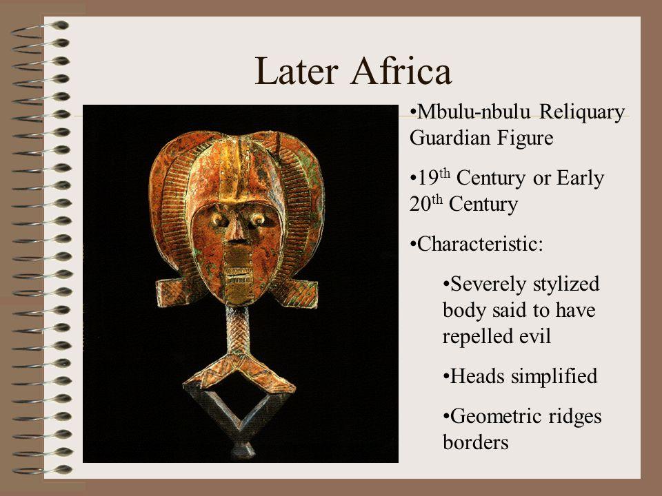 Later Africa Mbulu-nbulu Reliquary Guardian Figure