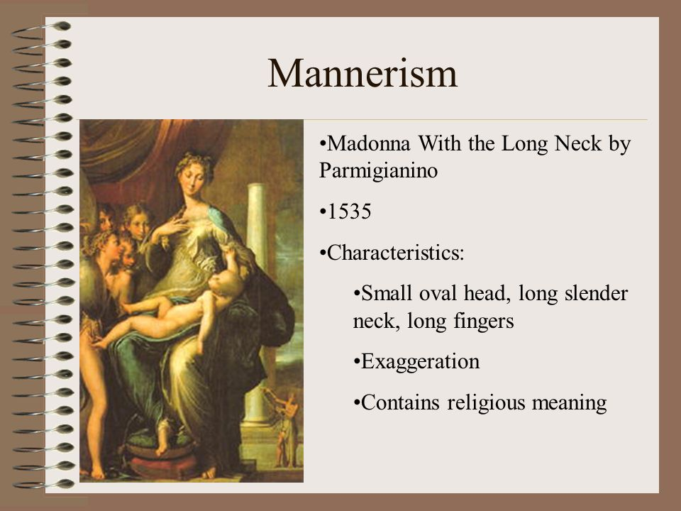 Mannerism Madonna With the Long Neck by Parmigianino 1535