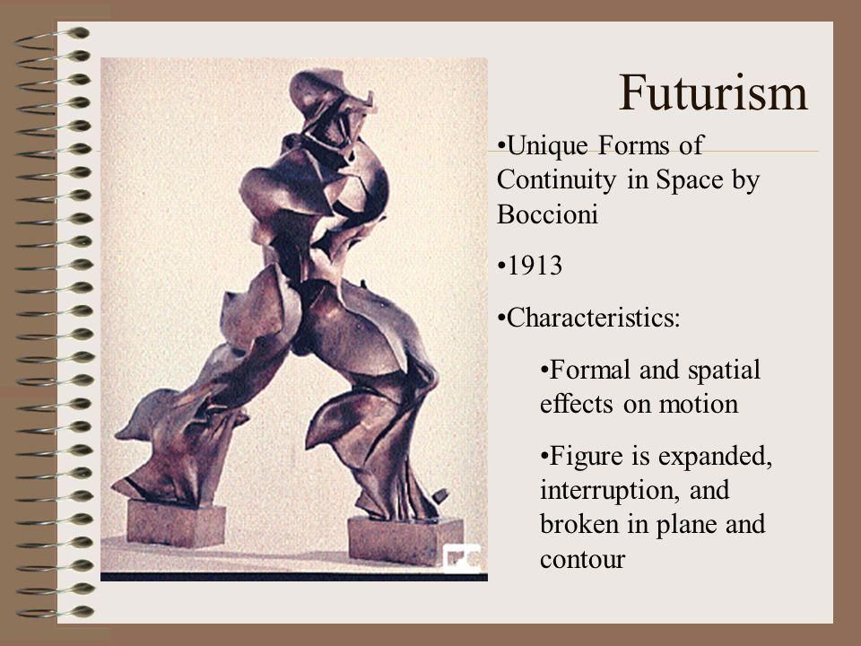 Futurism Unique Forms of Continuity in Space by Boccioni 1913