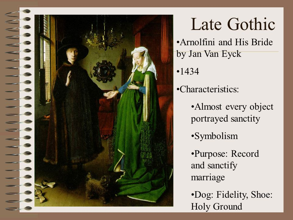Late Gothic Arnolfini and His Bride by Jan Van Eyck 1434