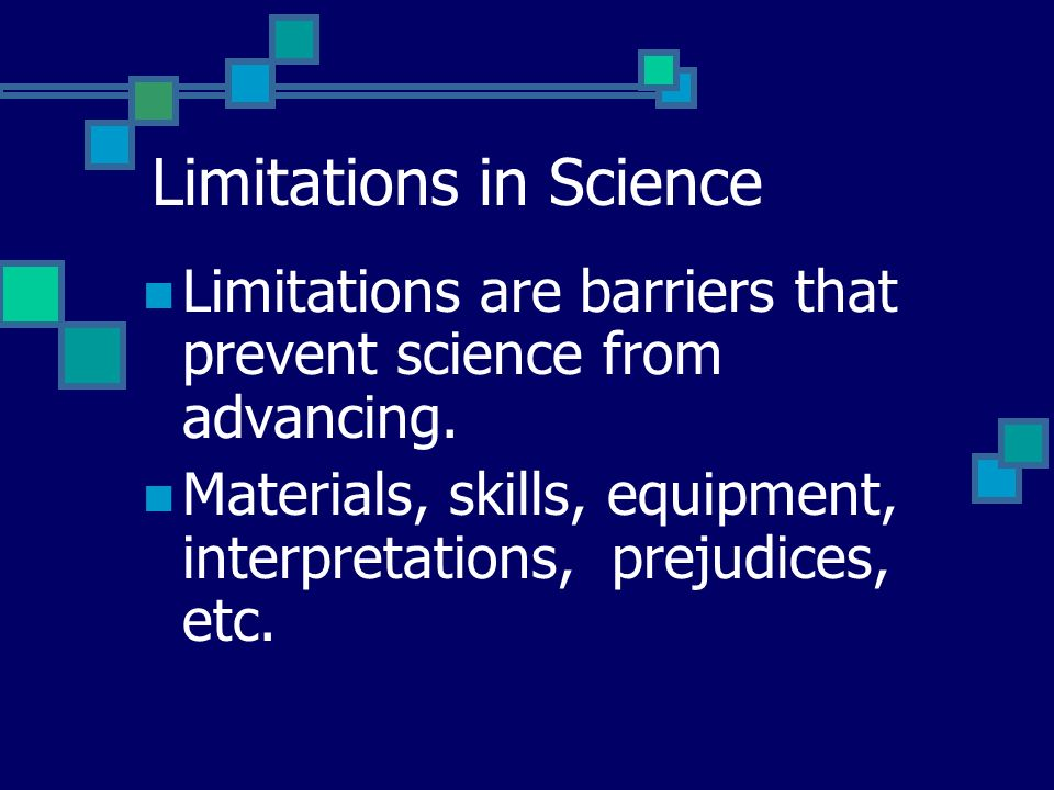 Limitations in Science