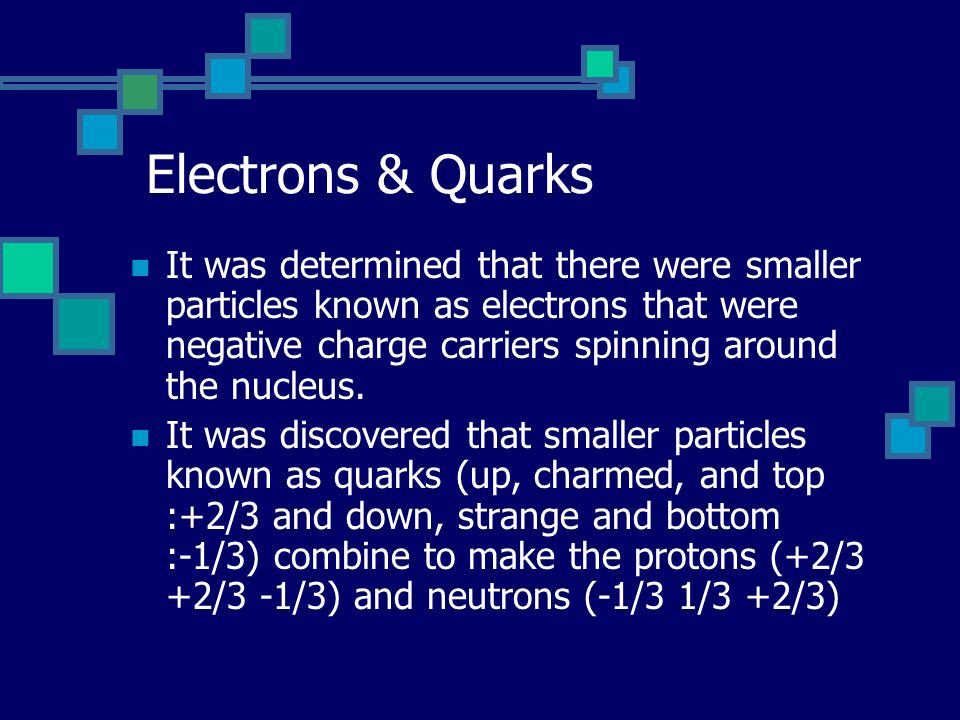 Electrons & Quarks