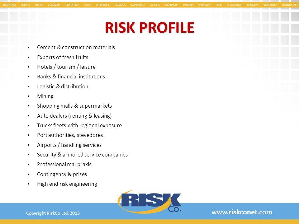 RISK PROFILE www.riskconet.com Cement & construction materials
