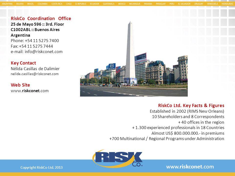 www.riskconet.com RiskCo Coordination Office Key Contact Web Site