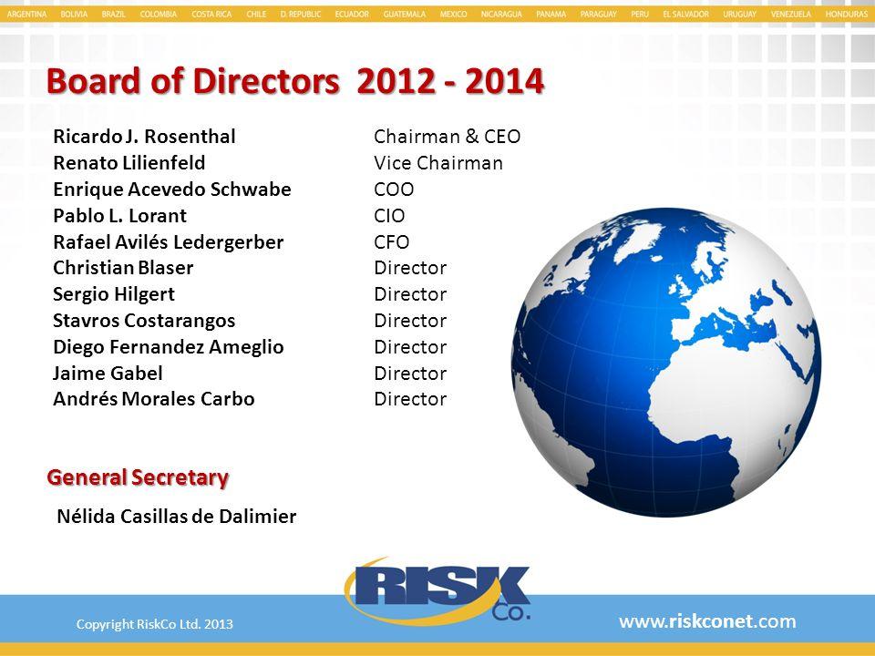 Board of Directors 2012 - 2014 General Secretary Ricardo J. Rosenthal