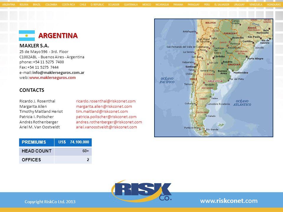 ARGENTINA www.riskconet.com MAKLER S.A. CONTACTS