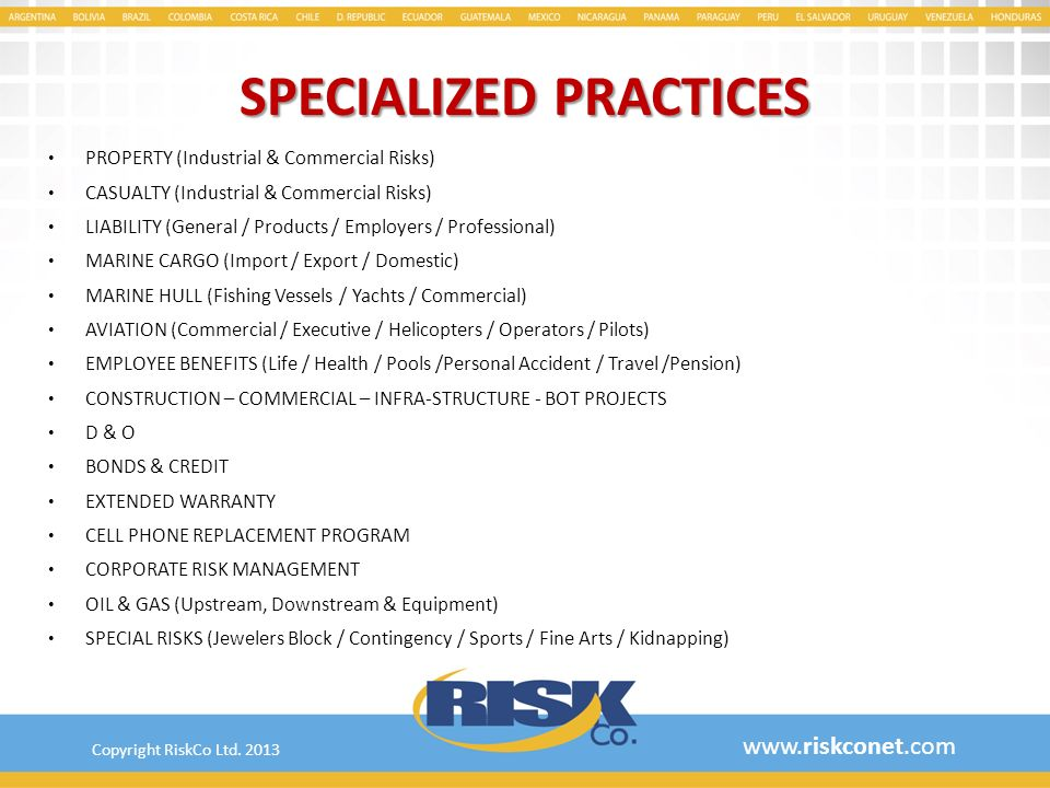 SPECIALIZED PRACTICES