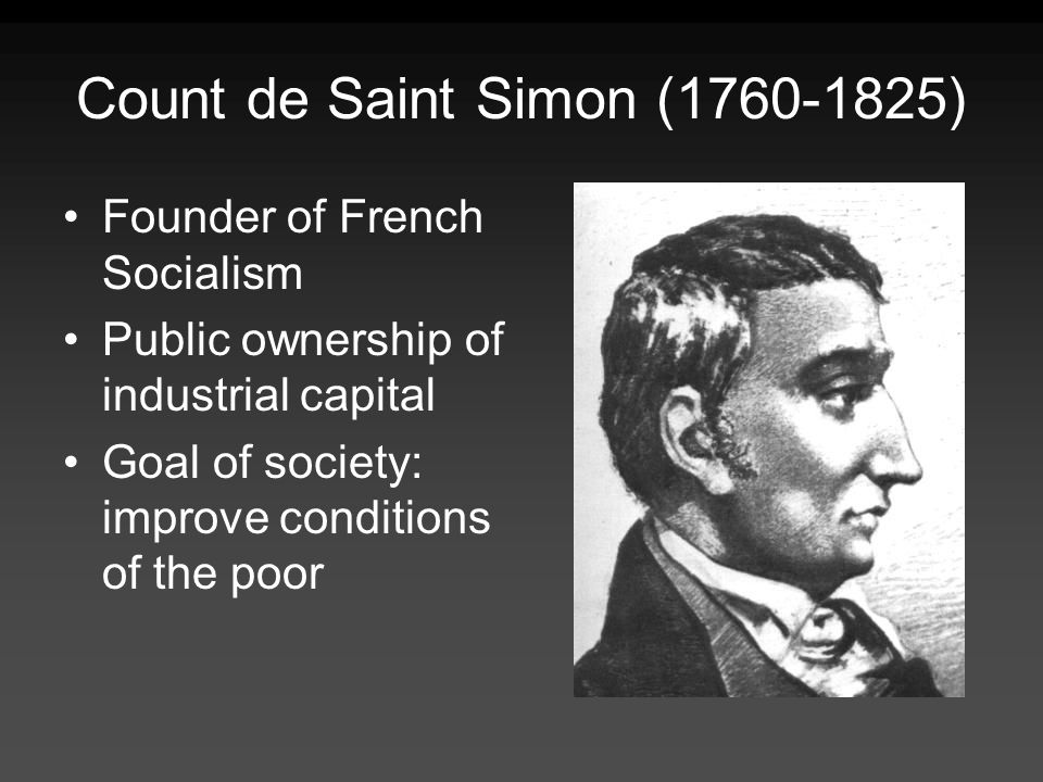 Count de Saint Simon (1760-1825)
