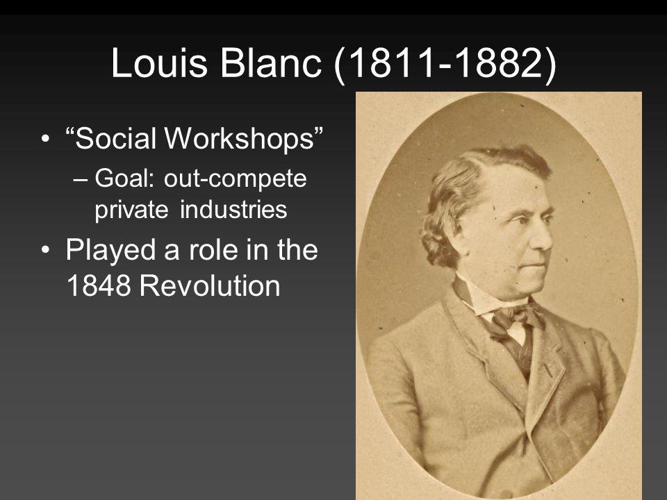 Louis Blanc (1811-1882) Social Workshops