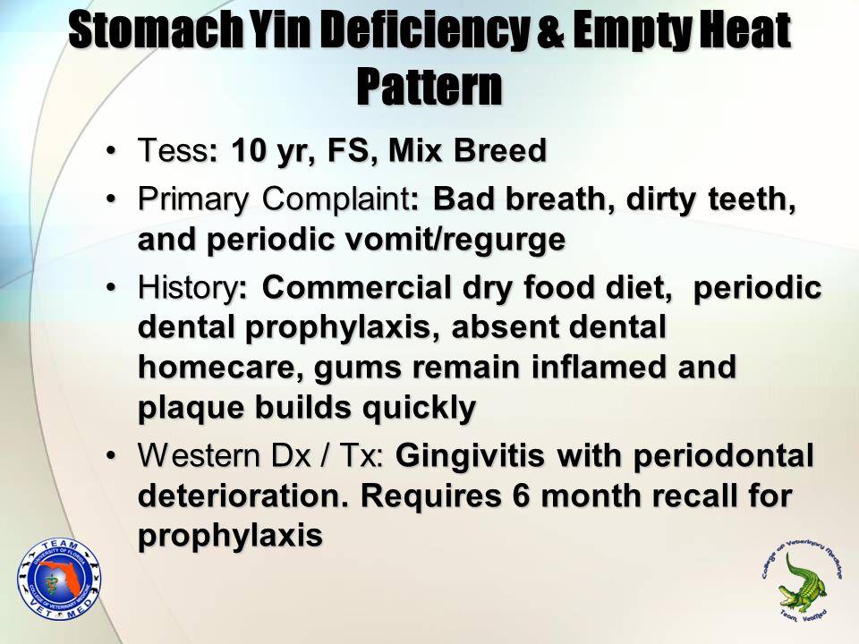 Stomach Yin Deficiency & Empty Heat Pattern