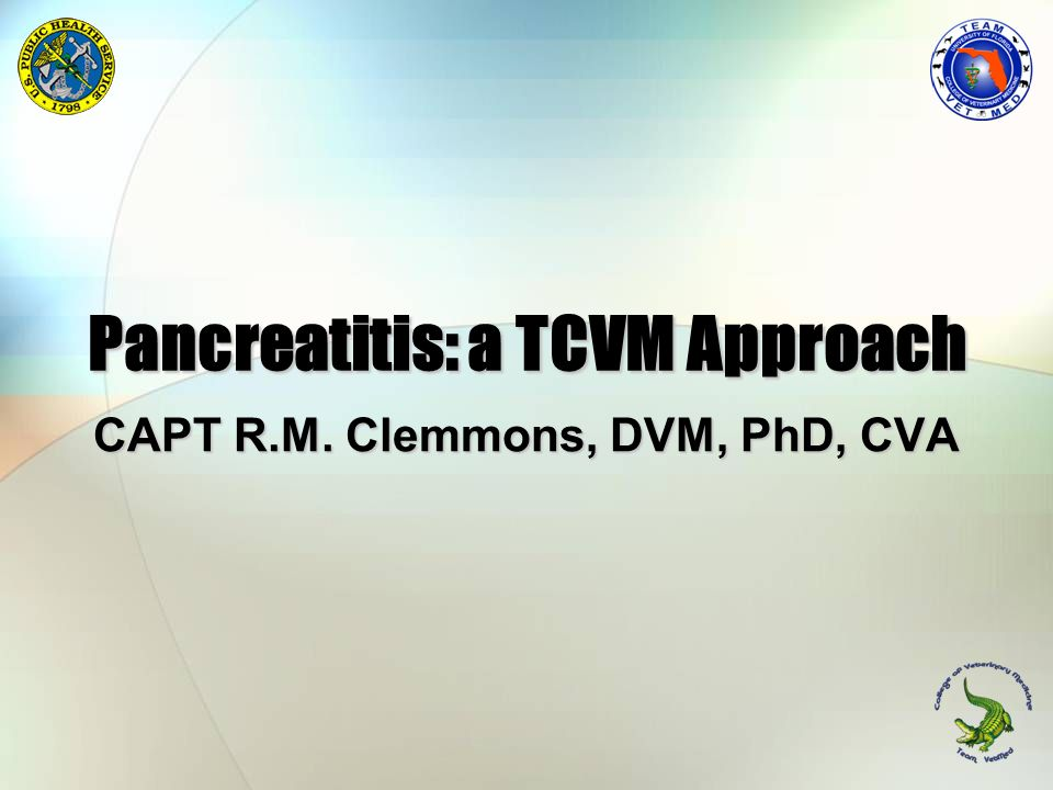 Pancreatitis: a TCVM Approach