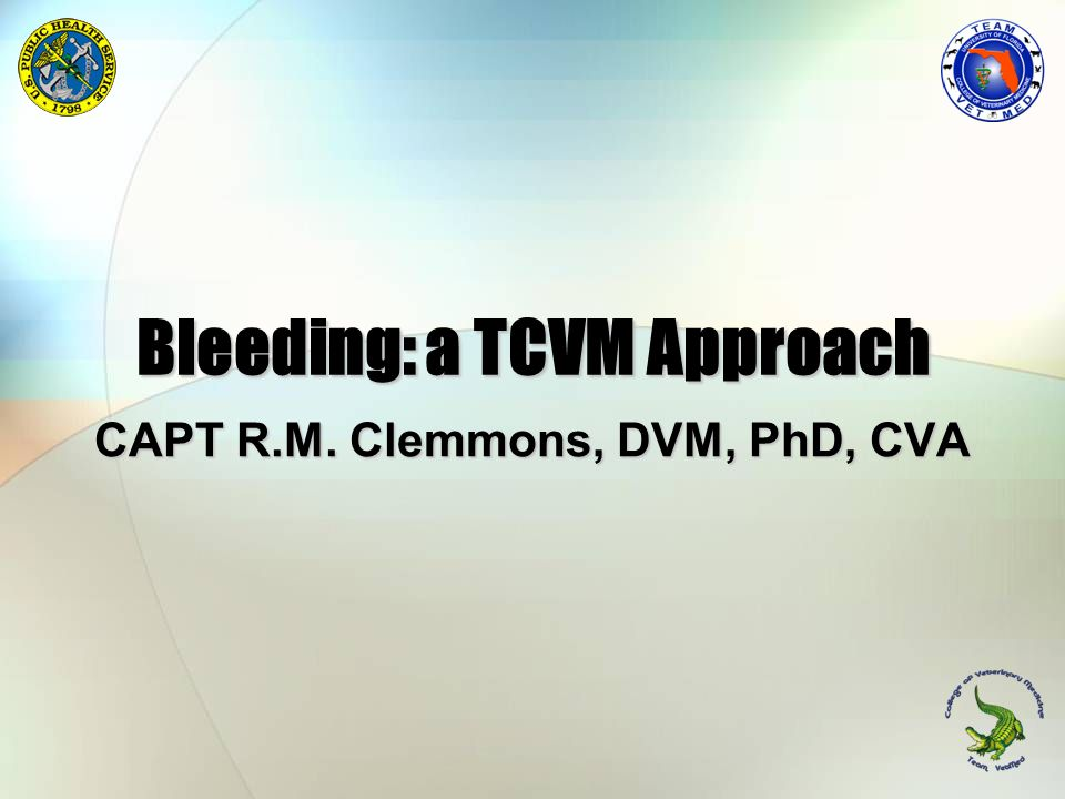 Bleeding: a TCVM Approach