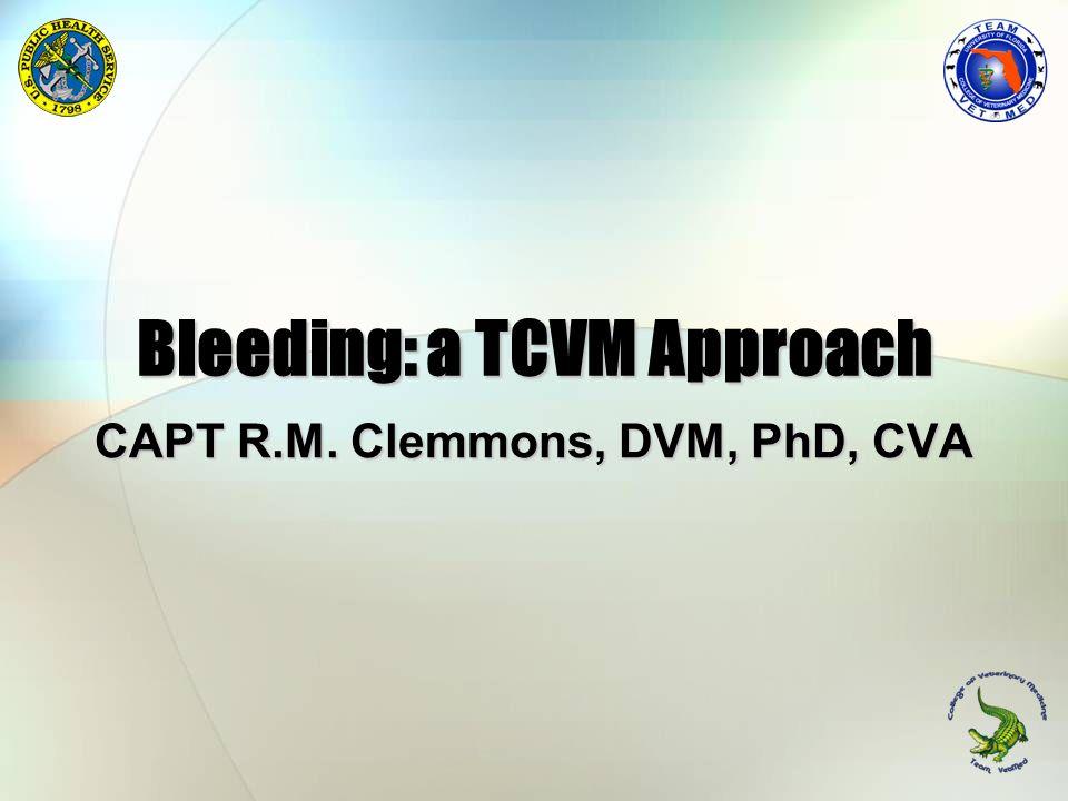 Bleeding: a TCVM Approach