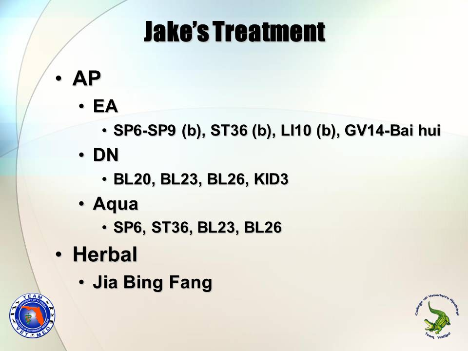 Jake's Treatment AP Herbal EA DN Aqua Jia Bing Fang