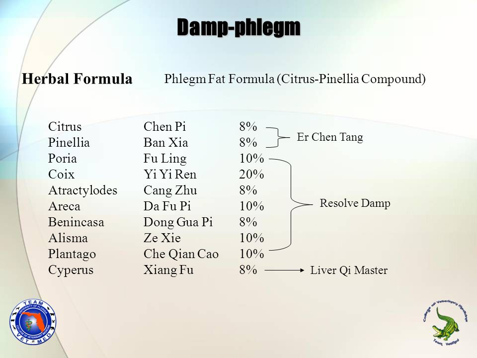 Damp-phlegm Herbal Formula