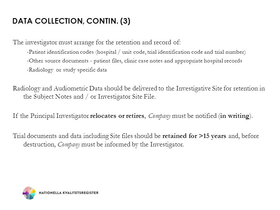 Data Collection, contin. (3)