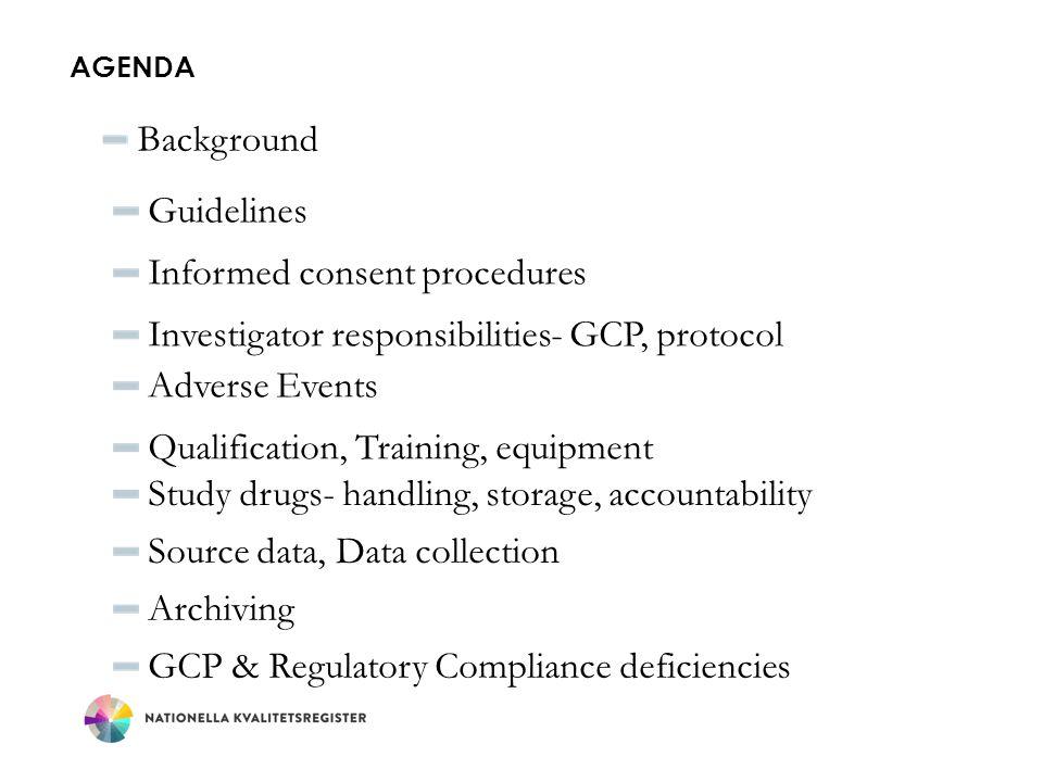 Informed consent procedures