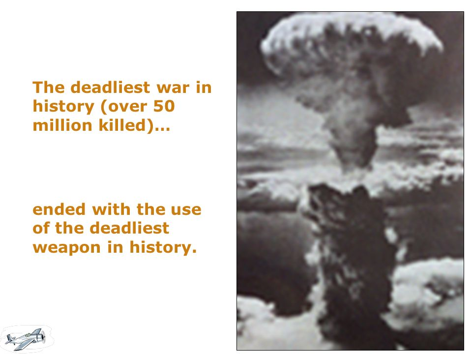 The deadliest war in history (over 50 million killed)…